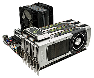 Configuration exclusive en SLI Bridge de cartes graphiques NVIDIA GeForce GTX