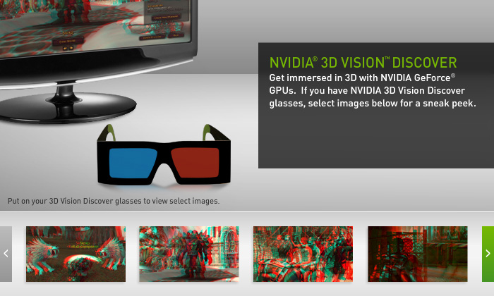 NVIDIA 3D Vision Discover